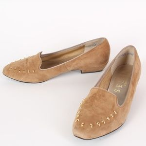 Selby Comfort Flex Tan Suede Leather Flats